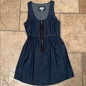 Dresses & Skirts - Denim zip front dress